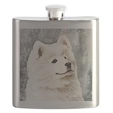 Samoyed Puppy Flask