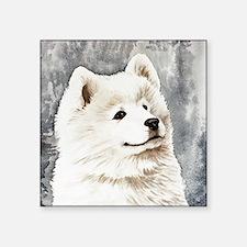 """Samoyed Puppy Square Sticker 3"""" x 3"""""""