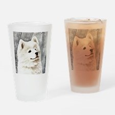 Samoyed Puppy Drinking Glass