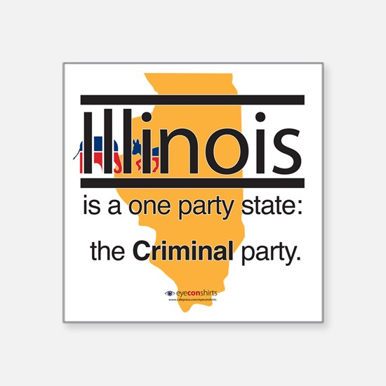 """PT-114-L_Criminal Party Square Sticker 3"""" x 3"""""""