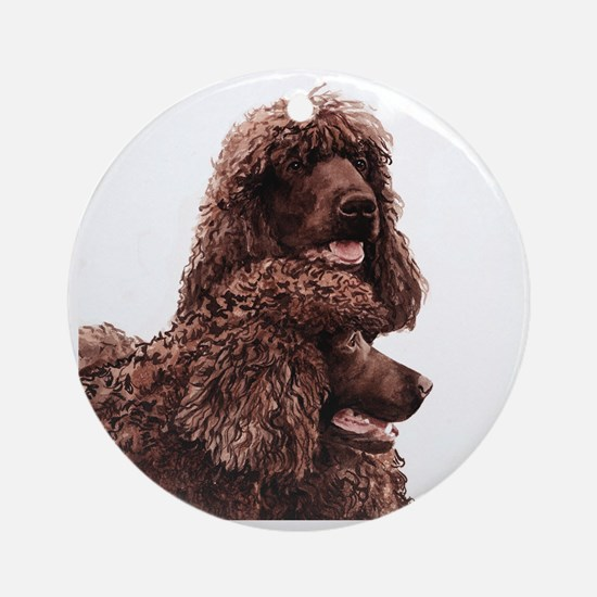 Irish Water Spaniel 5x5 Round Ornament