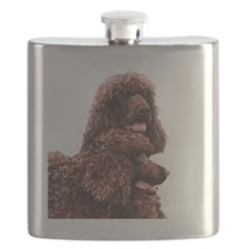 Irish Water Spaniel 5x5 Flask