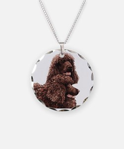 Irish Water Spaniel 5x5 Necklace