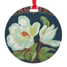 Magnolia antique cigar label Ornament