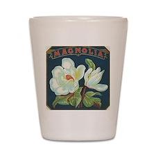 Magnolia antique cigar label Shot Glass