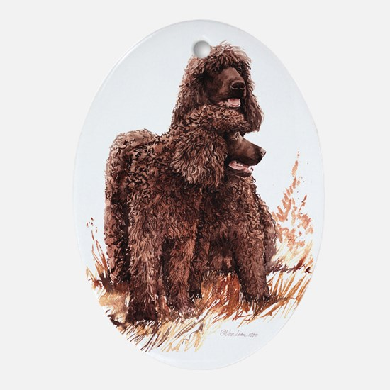 Irish Water Spaniel fixed Oval Ornament