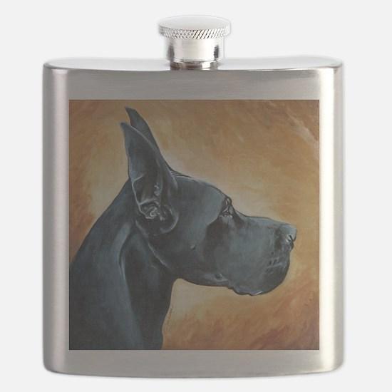 Great Dane Black Flask