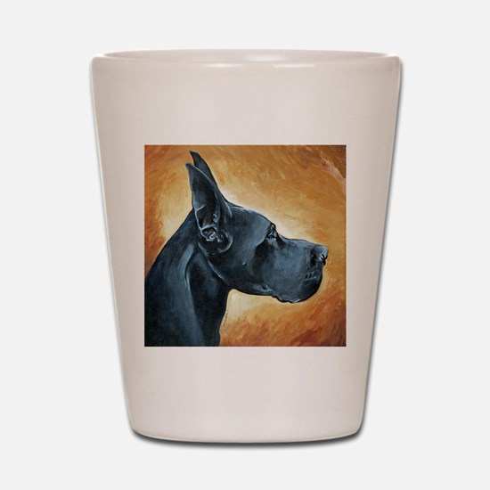 Great Dane Black Shot Glass