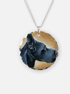 Great Dane Black Necklace