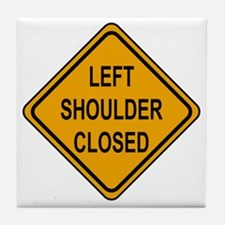 Left Shoulder Closed Tile Coaster