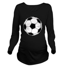Buckyball soccer Long Sleeve Maternity T-Shirt