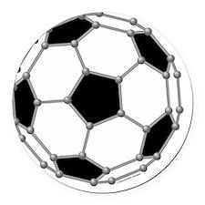 Buckyball soccer Round Car Magnet
