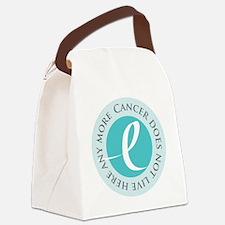 Cancer-doesnt-teal Canvas Lunch Bag