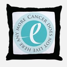 Cancer-doesnt-teal Throw Pillow