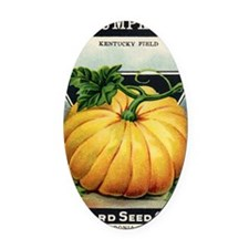 Pumpkin antique seed packet Oval Car Magnet