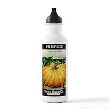 Pumpkin antique seed p Water Bottle