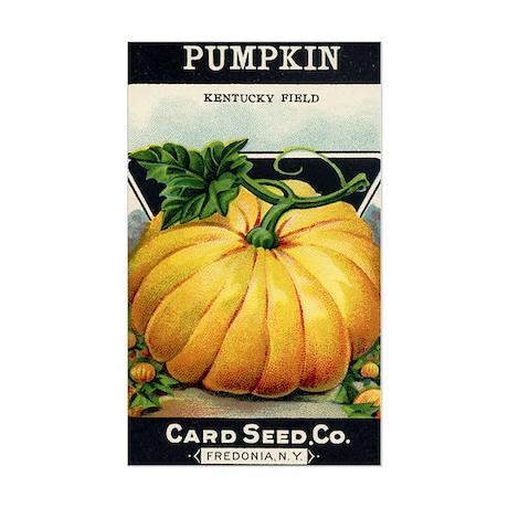 Pumpkin antique seed packet Sticker (Rectangle)