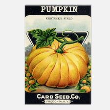 Pumpkin antique seed pack Postcards (Package of 8)