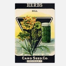 Dill Herbs antique seed p Postcards (Package of 8)