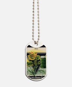 Dill Herbs antique seed packet Dog Tags