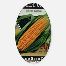 Yellow Corn antique seed packet Sticker (Oval)
