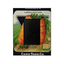 CARROT  antique seed packet Picture Frame