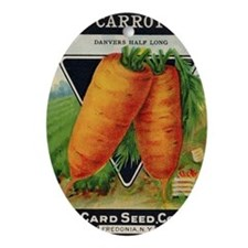 CARROT  antique seed packet Oval Ornament