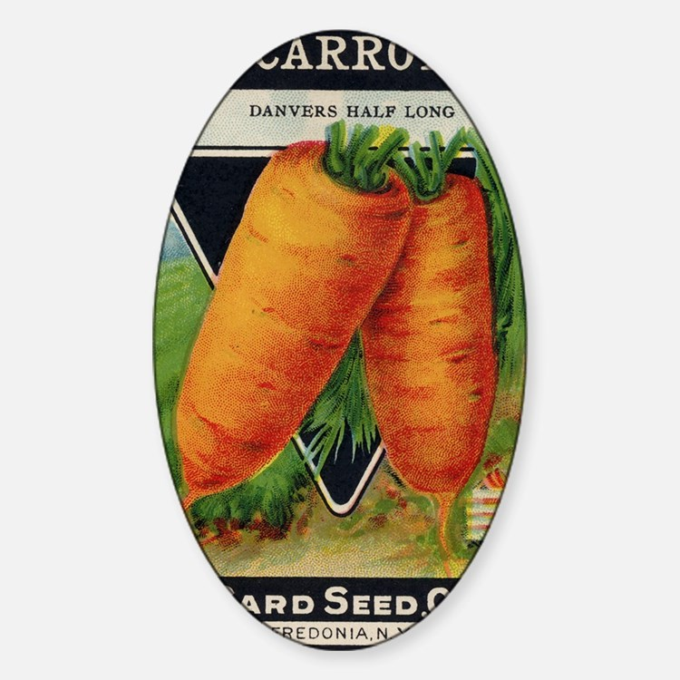 CARROT  antique seed packet Sticker (Oval)