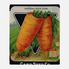 CARROT  antique seed packet Throw Blanket
