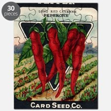 Cayenne Red Pepper antique seed packet Puzzle