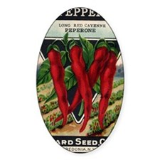 Cayenne Red Pepper antique seed pac Decal