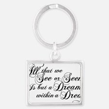 dream-within-a dream_bl Landscape Keychain