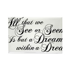 dream-within-a dream_bl Rectangle Magnet