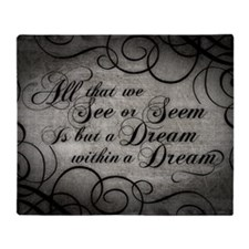 dream-within-a dream_12x18 Throw Blanket