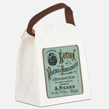 French Cosmetic Label blue Canvas Lunch Bag