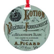 French Cosmetic Label blue Ornament