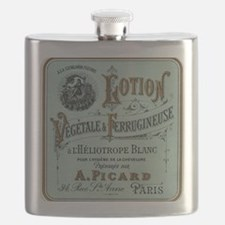 French Cosmetic Label blue Flask