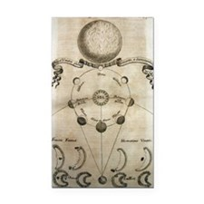 Ancient Moon Phases Rectangle Car Magnet