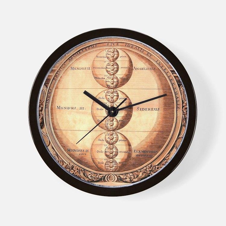 Alchemy Medieval Chart Wall Clock