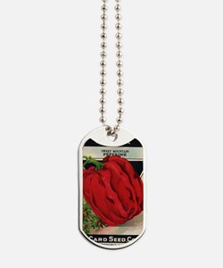 Red Bell Pepper antique seed packet Dog Tags