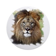 Lions Head Round Ornament