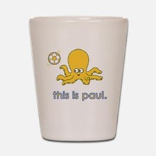 octopus white Shot Glass