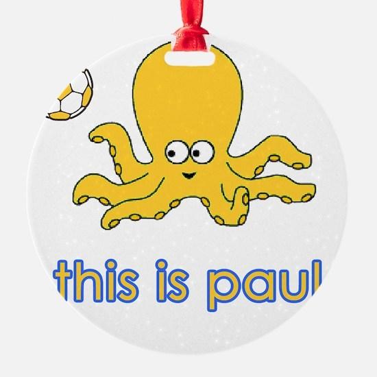 octopus white Ornament