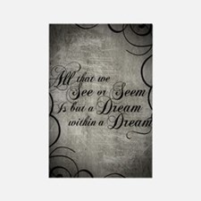 dream-within-a dream_j Rectangle Magnet