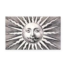 Medieval Sun Rectangle Car Magnet