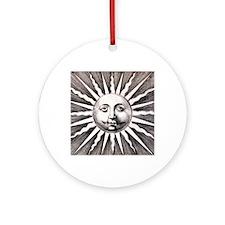 Medieval Sun Round Ornament