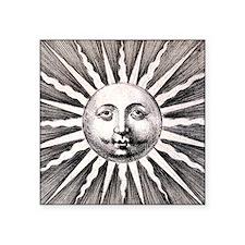 """Medieval Sun Square Sticker 3"""" x 3"""""""