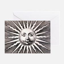 Medieval Sun Greeting Card