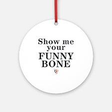 eSarcasm Funny Bone Thong Round Ornament