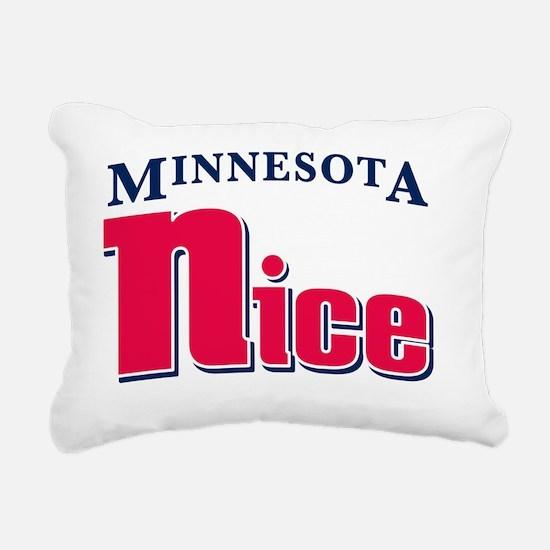 Minnesota Nice Rectangular Canvas Pillow